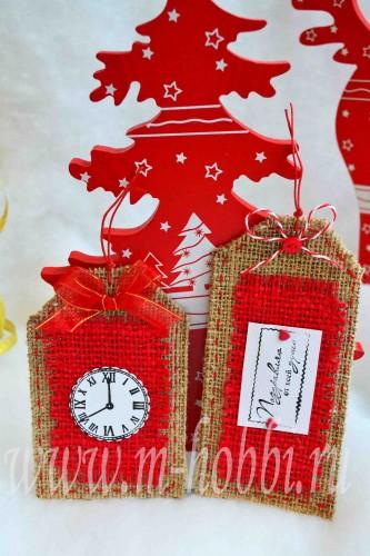 бирки для подарков новогодние