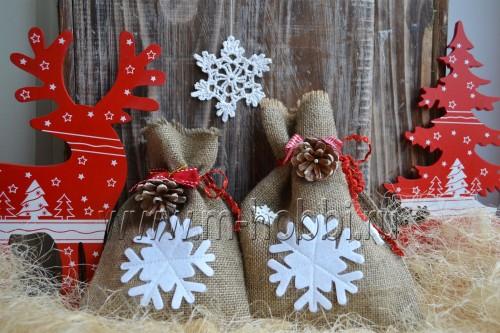 мешочки для подарков новогодние