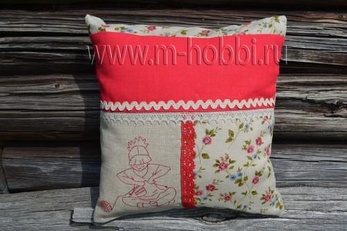 подушка лен