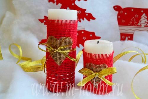 праздничный декор свечи