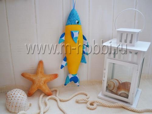 рыбка-игрушка текстильная