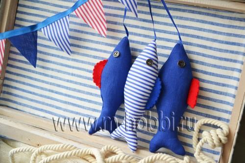 рыбки текстильные из ткани