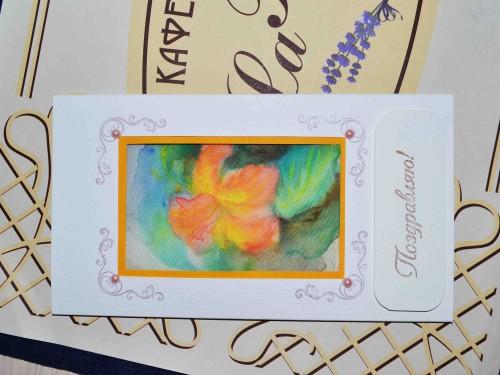 скрап-открытка батик
