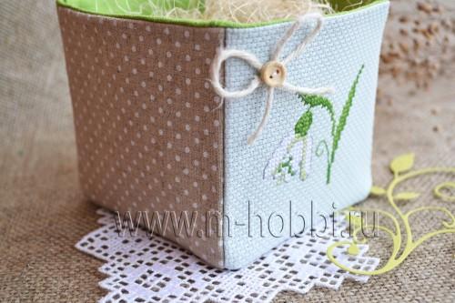 Как сшить коробочку из ткани
