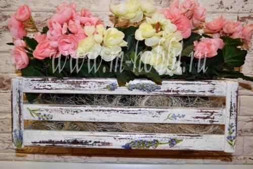 кашпо для цветов декупаж
