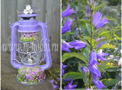декупаж лампы с цветами