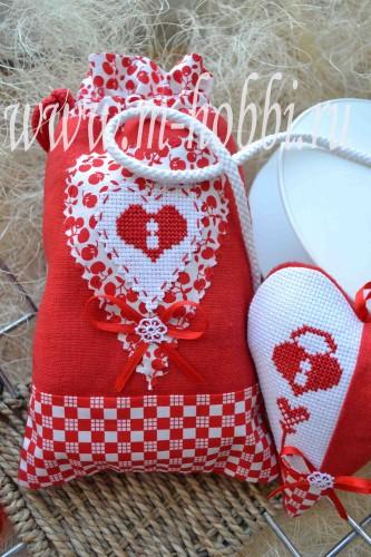 мешочек с вышивкой, лен, хлопок, шитье
